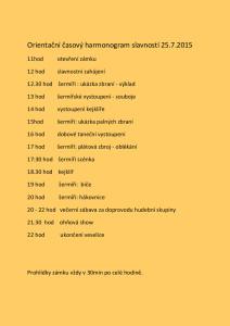 Zámecké slavnosti2015 harmonogram